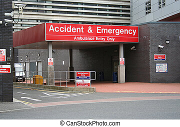 accident urgence, entrée