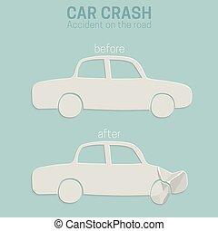accident voiture, accident.