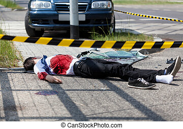 accident voiture, mort, homme