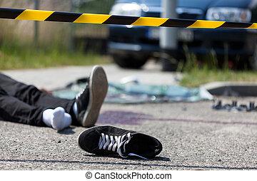 accident voiture, scène