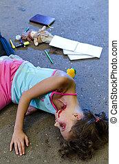 accident voiture, victime, enfant