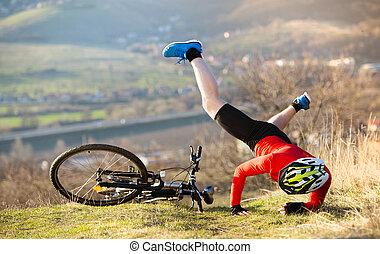 accidente, bicicleta