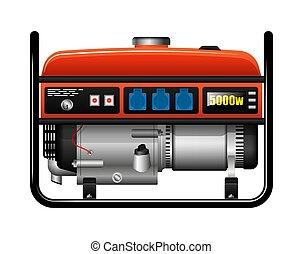 accidente, supply., portátil, generator., potencia, sobrante...