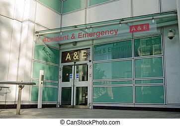 accidente y emergencia, entrada
