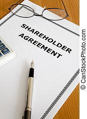accionista, acordo