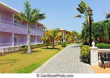 luxury caribbean holiday resort - Accommodation buildings...