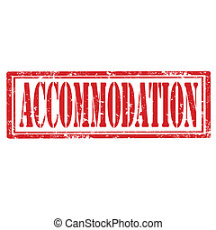 Accommodation-stamp - Grunge rubber stamp with text...