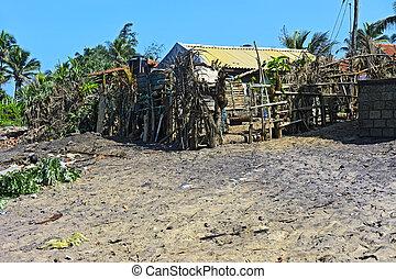 Sri Lanka - Accommodations fisherman on the coast of Sri...