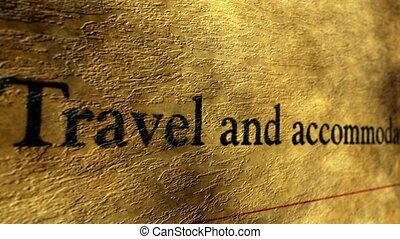 accomodation, voyage, formulaire