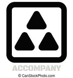 Accompany conceptual graphic icon
