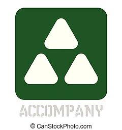 Accompany conceptual graphic icon. Design language element,...
