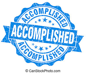 Accomplished blue grunge vintage seal