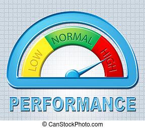 accomplissement, performance, spectacles, élevé
