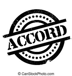 Accord rubber stamp. Grunge design with dust scratches....