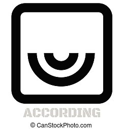 According concept icon on white flat illustration.