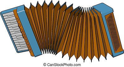 Accordion a musical instrument vector or color illustration