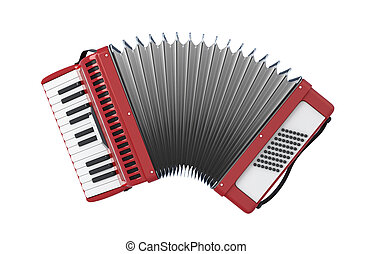 Bayan - Accordion. Bayan isolated on white background. 3d ...