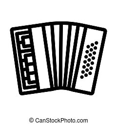 Accordion Icon. Bold outline design with editable stroke width. Vector Illustration.
