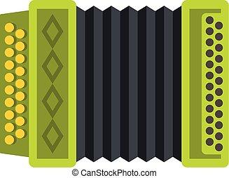 Accordion icon, flat style
