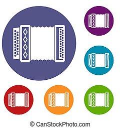 Accordion icons set