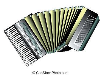 accordion isolated on white background. 10 EPS