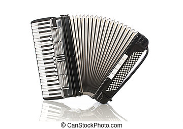 Accordion isolated on white background