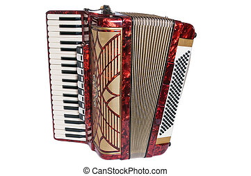 Accordion, it is isolated on white