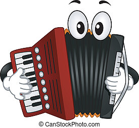 Accordion Mascot - Mascot Illustration of an Accordion...