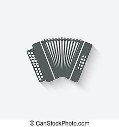 accordion music design element - vector illustration. eps 10