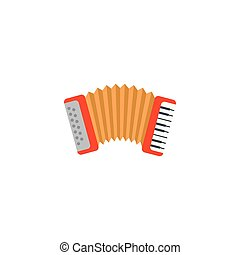 accordion music flat style icon