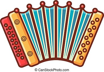 Accordion. Musical instrument for kid. Baby toy