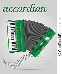 accordion musical instruments stock vector illustration