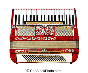 accordion on a white background