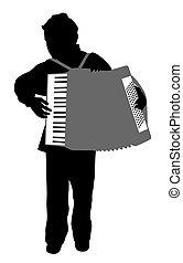 Accordionist boy