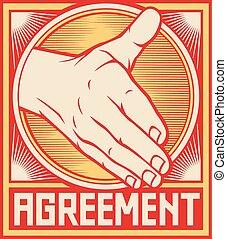 accordo, manifesto, disegno