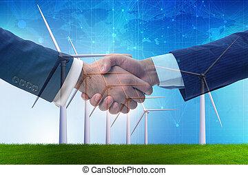 accordo, su, cambiamento clima, concetto