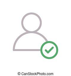 account  color line icon
