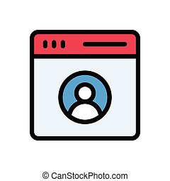 account flat color icon