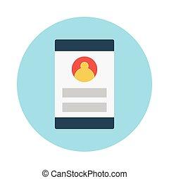 account flat icon