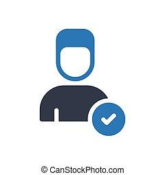 account glyph color icon