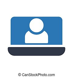 account glyph color vector icon