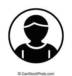 account glyph flat vector icon