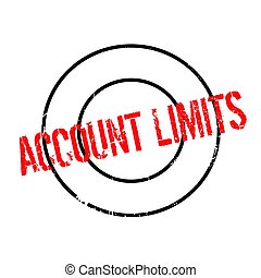 Account Limits rubber stamp. Grunge design with dust...