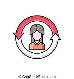 account line flat icon