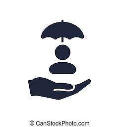 Account protection concept - Minimal vector icon
