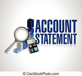 account statement business background illustration design...