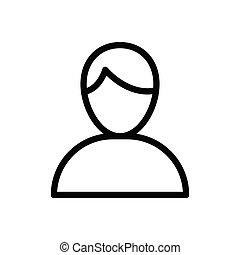 account thin line icon