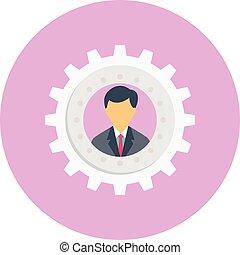 account vector colour flat icon