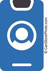 account vector glyph colour icon