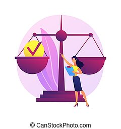 Accountability abstract concept vector illustration. Legal ...